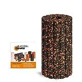 Blackroll Orange Groove Faszienrolle - Faszien Massagerolle mit Rillen (Aufrüstbar mit Vibration) mit Anleitung