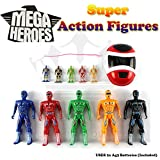 Power Rangers Mega Super Heroes Action Figures Play Set 11 Piece - Role Toys NEW