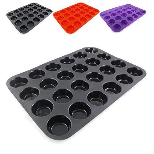 Belmalia Teglia per Mini Muffin, Silicone, 33 x 25 x 2 cm, 24 Stampi, Rivestimento Antiaderente...