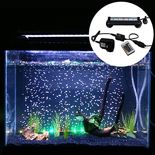 Kuty LED Pecera Luces de iluminación del Acuario 5050 SMD RGB Barra de luz bajo el Agua con Control Remoto Tanque de Pesca(Europa estándar Plug)