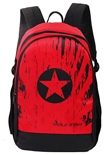 POLESTAR Amaze 30 LTR Red Black Casual/Travel Backpack with Laptop Compartment