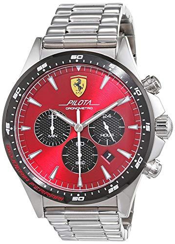 Scuderia Ferrari Orologio Cronografo Quarzo Uomo con Cinturino in Acciaio Inox 830619