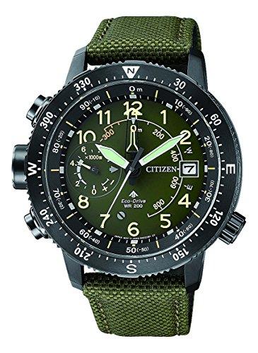 Citizen Herren Analog Solar Uhr mit Nylon Armband BN4045-12X