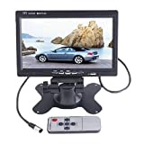 BW Rücksichtkamera für Autos, mit 17,8 cm (7 Zoll) drehbarem Bildschirm, 800 x 480 hoher Auflösung, TFT Farb-LCD und 2 AV-Eingängen