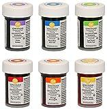 Colorant alimentaire gel concentré - 6 couleurs de l'arc en ciel - Wilton