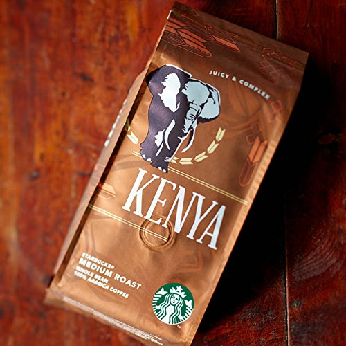 Starbucks Single Origin coffee beans (a blackberry, blackcurrant sweetness, grapefruit coffee with aromas of dried fruit and citrus fruit, fresh fruit and petals)