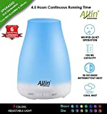Allin Exporters DT - 1508C 2 in 1 Ultrasonic Humidifier & Essential Oil Aroma Diffuser Cool Mist with 7 Different Color Changing LED Lights (100 ml)
