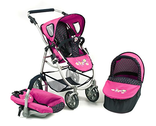 Bayer CHIC 200063712–Set Passeggino 3in 1Emotion all in, a Pois, Blu/Rosa