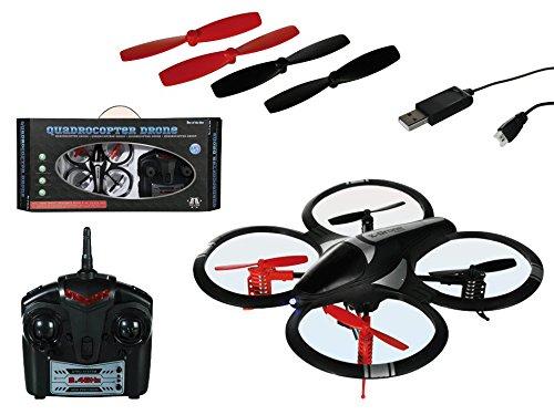 Out of the blue Quadricottero radiocomandato Ready To Fly drone con LED incluso batteria & USB cavo di ricarica