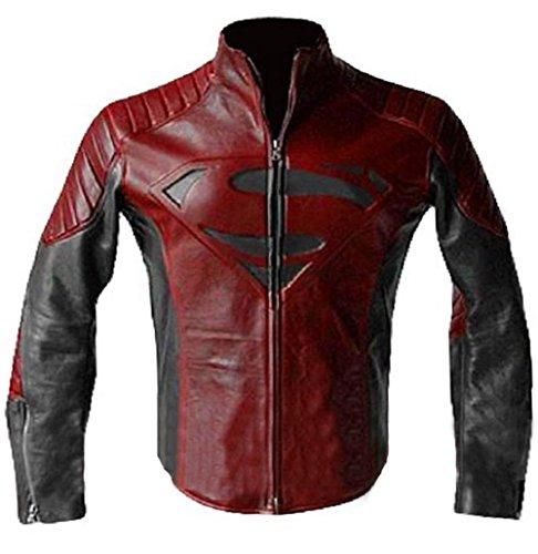 Piel mujer Superman Smallville negro chaqueta de piel de color marrón