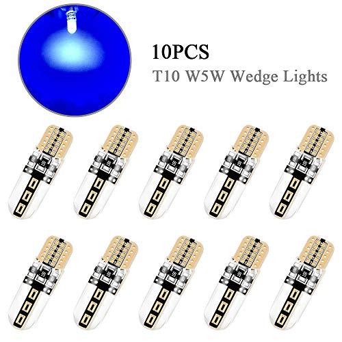 10 PZ Blu T10 W5W 194 168 Lampadine a LED Luci esterne per interni auto COB CANBUS Luci laterali a...