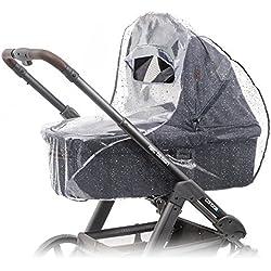 Protector de lluvia universal para cochecitos / capazos de bebé (p. ej. Bugaboo, Stokke, Jané, etc.) | Buena circulación de aire, ventana con visera, libre de sustancias nocivas