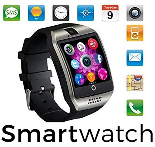 VOLTAC Android/iOS Mobile Wrist Watch Phone Compatible with All Mobiles Ceritfied Sw Bluetooth Smart Watch Phone with Camera & Sim Card Support with Apps Like Facebook and Whatsapp Model 127403