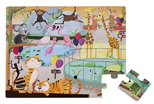 Janod - Puzzle Tattile 20 Pezzi, Una Giornata allo Zoo, J02774