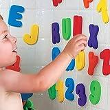 Juguete 26 letras y 10 numeros de esponja que se adhieren a la pared del baño o cocina para aprender leer jugando de OPEN BUY