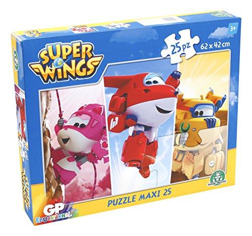 Giochi Preziosi - Super Wings Puzzle Maxi, 25 Pezzi