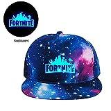 KOBWA Gorras Fortnite,Sombrero de Béisbol Batalla Royale Luminoso Gorro Ajustable Sombrero de Sol para Niños y Adultos