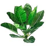 GETSO Ampliación de 70cm de Hoja perenne Esmeralda Artificial Plantas Las Plantas Hojas decoración de la Boda Home Office Furniture Bonsai en Maceta Adornos: Emerald 70cm