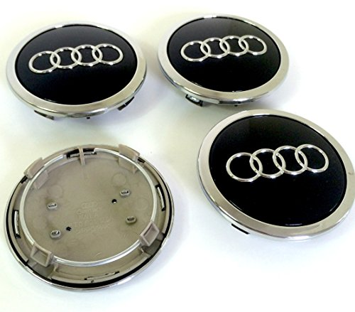 lot de 4 caches moyeu pour audi noir 69 mm 8t0 601 170a convient pour audi a3 a4 a5 a6 a7 a8 s4. Black Bedroom Furniture Sets. Home Design Ideas