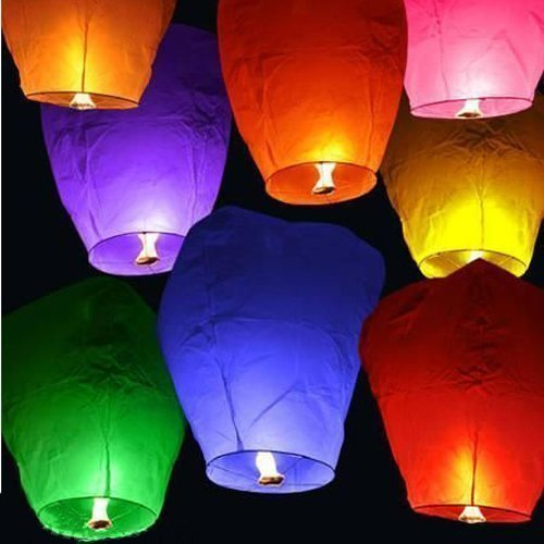Crazy Sutra Make A Wish Hot Air Baloon Paper Sky Lantern Set of 30 (SLS01)
