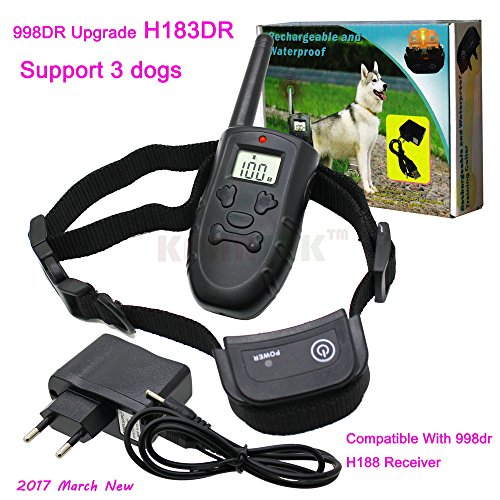 Generic 998DR Extra Receiver : Upgrade 998DR Dog Training Collar H183 Rechargeable Waterproof 300 Meter Vibration Remote Pet Dog Training Collar Support 3 Dogs