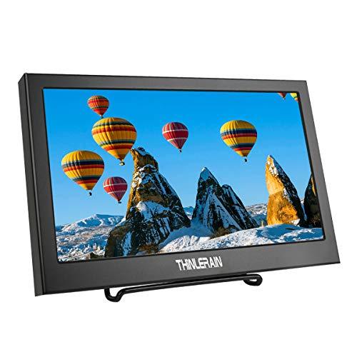 Thinlerain 11,6 Pollici Monitor Portatile HDMI HD Display 1920X1080 con HDMI/VGA Ingresso Altoparlanti Incorporati per Raspberry Pi Xbox360 Telecamera CCTV PC Windows 7 8 10