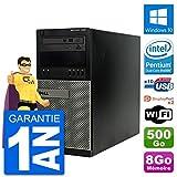 Dell PC Tour 7020 Intel Pentium G3220 RAM 8Go Disque Dur 500Go Windows 10 WiFi (Reconditionné)