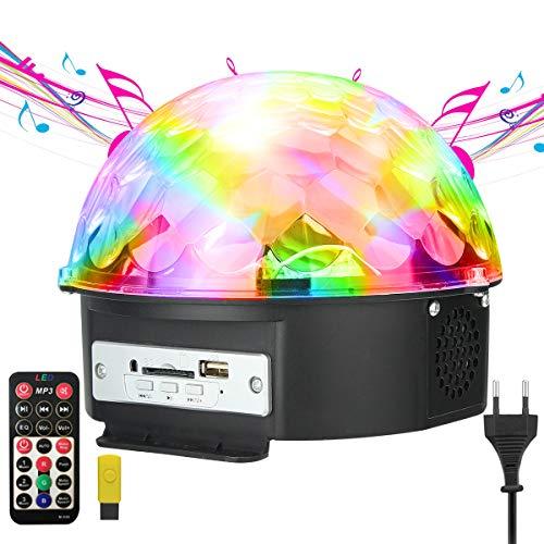 Luci da Palco, GUSODOR Luci Discoteca Mini palla Lampada Magica Fase Ristallo Rotante Sfera LED...