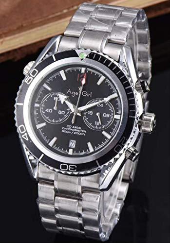 PLKNVT Luxury Cronografo Uomo Cronometro Sapphire Orologi James Bond 007 Arancione Blu Nero Lunetta...