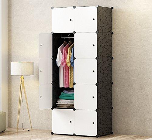 PREMAG fai da te portatile armadio guardaroba, Modular Storage organizzatore, di economia di spazio...