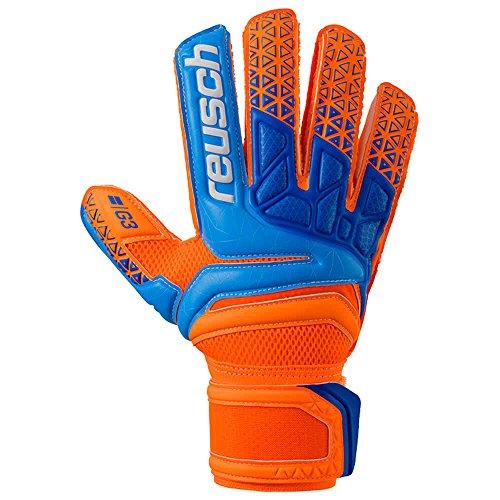 Reusch Prisma Prime G3 - Guanti da Portiere da Uomo, Uomo, 3870935, Shocking Orange/Blue, 8.5