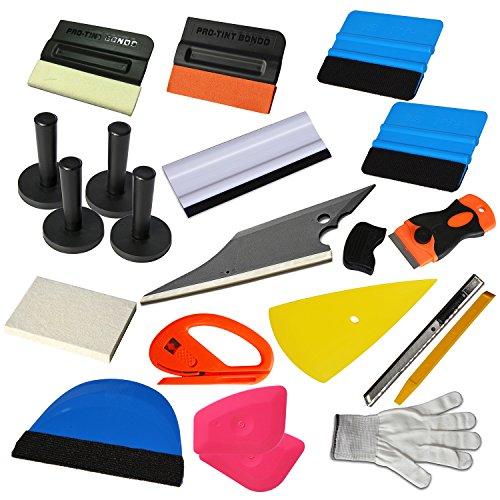 Ehdis® 15 tipos de kit del coche del abrigo del vinilo herramienta de tinte de la ventana para la instalación automática de película Teñido Aplicación del raspador