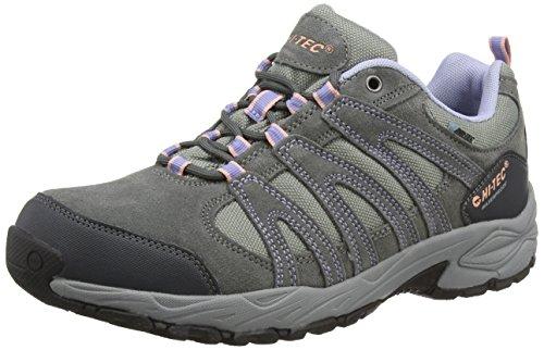 Hi-Tec - Alto II Low Waterproof, Zapatillas de Senderismo Mujer, Gris (Steel/Charcoal/Lustre), 37 EU