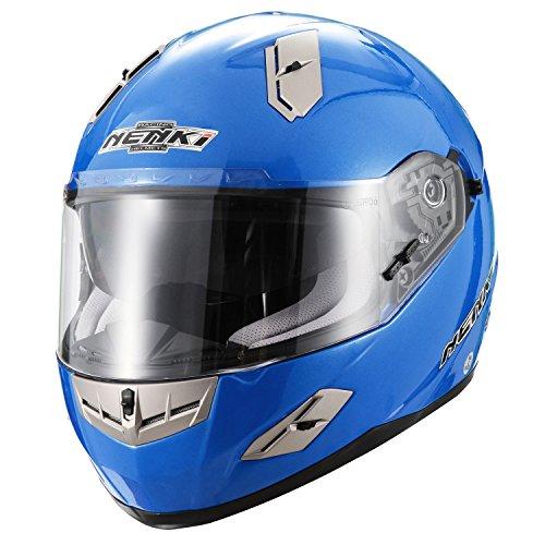 Nenki Helme NK-856 Full Face Motorradhelme, Glasfaser Schale,ECE-geprüft, mit Doppelvisieren 1
