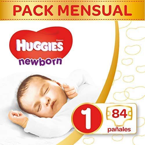 Huggies pannolini Ultra Comfort Newborn Baby Taglia 1mezza Mona tsbox, 1er Pack (1X 84pezzi)