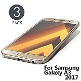 Aribest Galaxy A3 2017 Panzerglas Schutzfolie, 3 Stück Ultra-klar Panzerglasfolie Für Samsung Galaxy A3 2017,9H Härte,HD,Anti-Öl,Anti-Kratzen,Anti-Bläschen, Displayschutzfolie Kompatibel mit A3 2017
