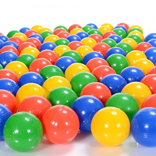 100 bolas pl stico multicolor 6 cm di metro piscina beb s for Piscina plastico ninos