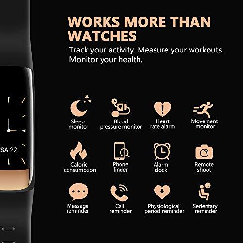 siroflo Fitness Tracker, Montre Connectée Tracker d'Activité IP67 étanche, Smartwatch Bracelet Bluetooth Podomètre avec Moniteur de Sommeil/... 23