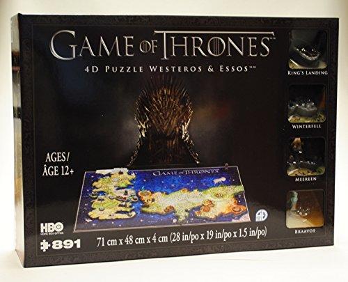 4DCityscape Game of Thrones 4D Puzzle di Westeros & Essos