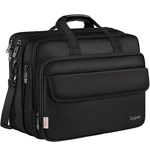 Taygeer Borsa da 17 pollici per laptop, borsa Messenger espandibile per computer, borsa da viaggio...