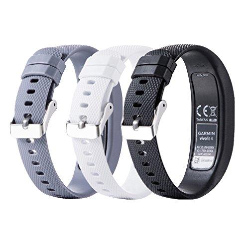 Meiruo Sostituzione di Fitness Band per Garmin Vivofit 4, Wristband per Garmin Vivofit 4, in Silicone, Colour 3, L