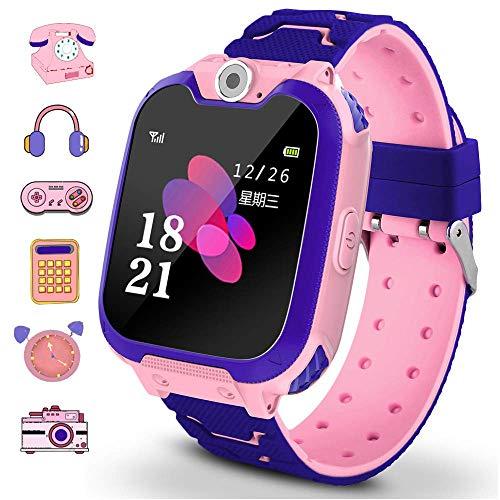 Winnes - Orologio intelligente per bambini, con 7 giochi e 7 giochi Smart Watch, 2 vie, chiamata sveglia per fotocamera per orologio bambino e bambina, 3-12 anni