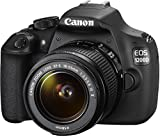 Canon EOS 1200D SLR-Digitalkamera (18 MP APS-CCMOS-Sensor, 7,5cm (3 Zoll) LCD-Display, Full HD, Kit inkl. 18-55mm IS Objektiv) schwarz