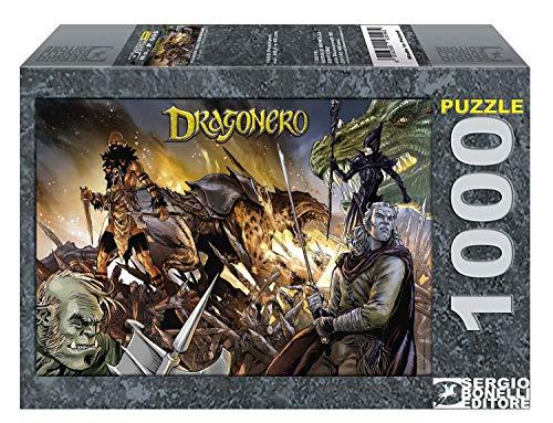 Bonelli Editore Dragonero - Puzzle 1000 Pz 70 X 50 Cm Merchandising Ufficiale