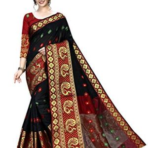 Regolith Designer Sarees Banarasi Silk, Cotton multi-colored Saree With Blouse Piece 8  Regolith Designer Sarees Banarasi Silk, Cotton multi-colored Saree With Blouse Piece 51TuuC5jTWL
