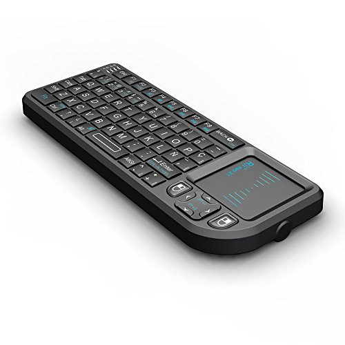 51U0w9gDxFL - Rii Mini X1 teclado inalámbrico con ratón táctil - compatible con Smart TV, Mini PC Android, PlayStation, Xbox, HTPC, PC, Raspberry Pi