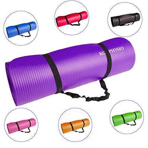 Tappetino Spessore Antiscivolo Per Yoga KG   PHYSIO (1cm), Qualità Premium Tappetino Fitness per...