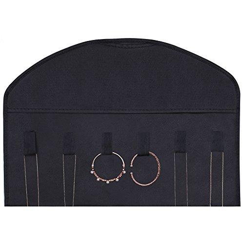 Ezigoo Großer, Doppelseitiger Schmuckhalter Aufbewahrung Schwarz – Ringhalter, Ohrring display - 6