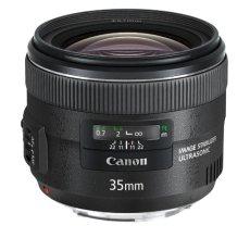 Canon EF 35mm f/2 IS USM - Objetivo para canon (distancia focal fija 35mm, apertura f/35-22, estabilizador) color negro