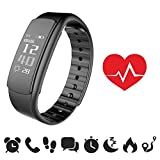 endubro - Braccialetto Fitness | Fitness Tracker | Fitness Watch con Display OLED e Bluetooth 4.0 per Android e iOS (i7HR)